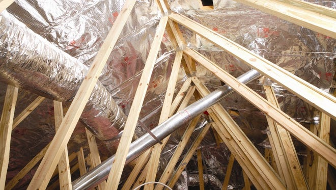 This attic has a radiant barrier installed.