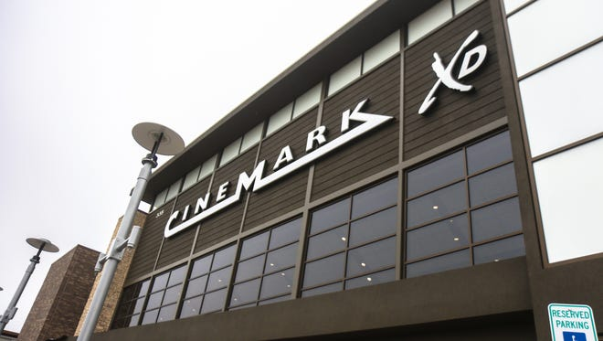 The new Cinemark movie theater opened at the new Foothills mall.