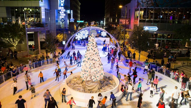 CitySkate at CityScape is a rink made with real ice that will be open all holiday season long in downtown Phoenix.