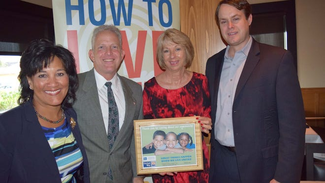 President/CEO of United Way of Martin County Carol Houwaart-Diez (from left), luncheon sponsor Gary Lesser, Nancy Perry and Chad Hastings attend the United Way luncheon.