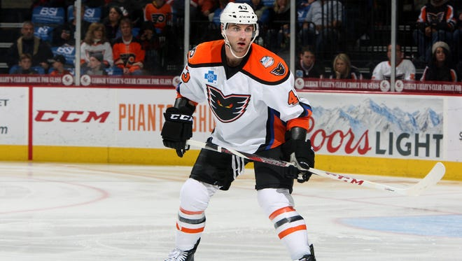 Moorestown native T.J. Brennan led the Lehigh Valley Phantoms in points last season.