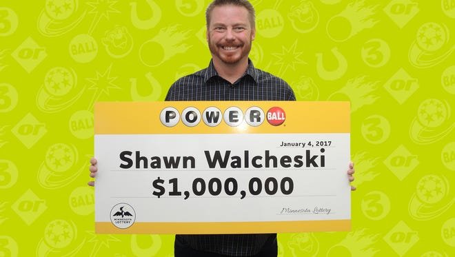 Shawn Walcheski claimed his $1 million payout from the Nov. 26 Powerball drawing. Walcheski purchased the ticket at a St. Cloud Coborn's.