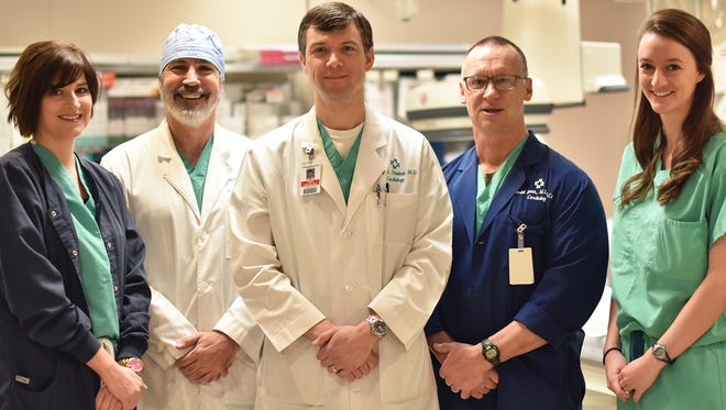 Pictured left to right The Watchman Team: Lauren Winters, Watchman Coordinator; Mark Borganelli, MD; Craig Thieling, MD; Randel Smith, MD; Allison Henderson, PA-C, Watchman Coordinator