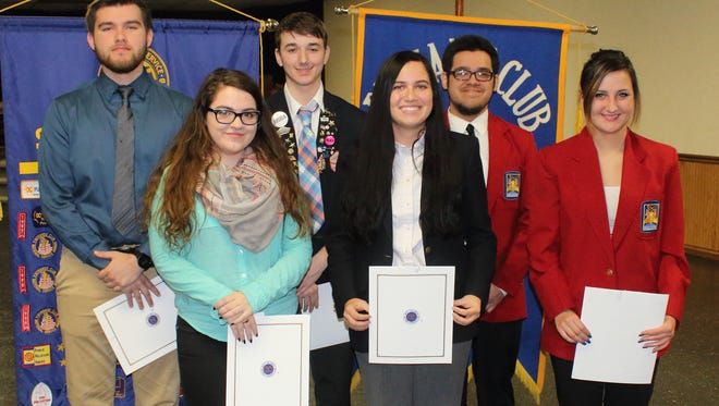 The Fremont Exchange Club's students of the year include Abbi Riedmaier, Caleb Calvillo from Fremont Ross;  Gianna Cullen and Jared Weissinger from St. Joseph Central Catholic; and Anna Kay Castillo and Jose Ghavez from Vanguard Career Center.
