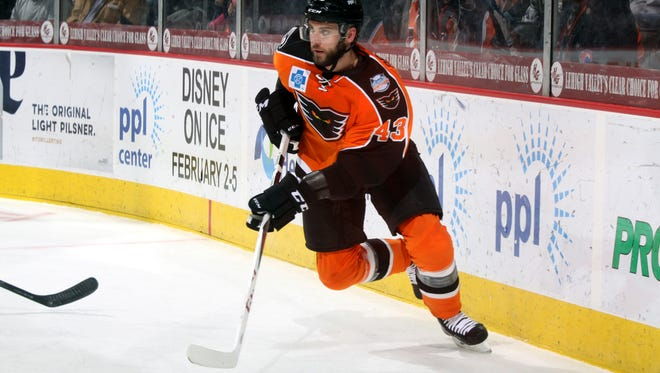 Moorestown native T.J. Brennan led the Lehigh Valley Phantoms in points this season with 60.