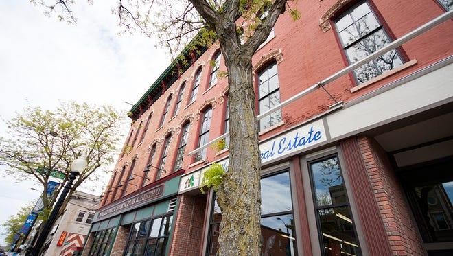 Downtown Hastings has a facade grant program to improve upon its historic buildings, as it has on East State Street with the Waldorff Brew Pub building.