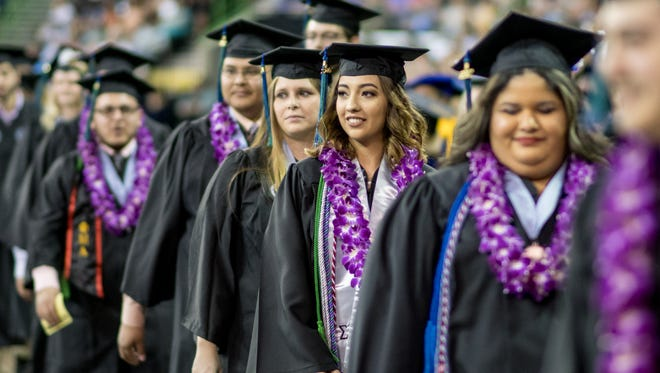 Over 1,100 graduates received their degrees during two 2017 Spring Commencement ceremonies for graduates of Texas A&M-University-Corpus Christi at American Bank Center Arena.