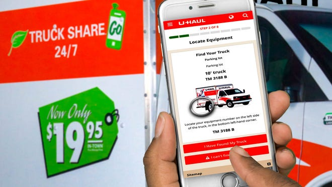 All steps in U-Haul's new truck-sharing process are designed to be performed through a smartphone.
