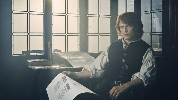 Jamie Fraser (Sam Heughan) in a shot for 'Outlander'
