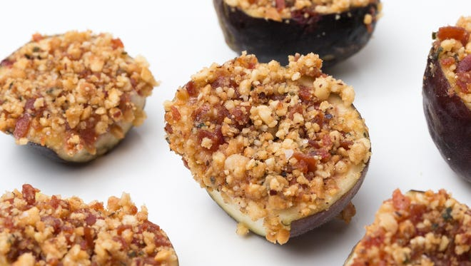 If you cannot get your hands on fresh figs, substitute dried figs that have simmered in red wine until soft.