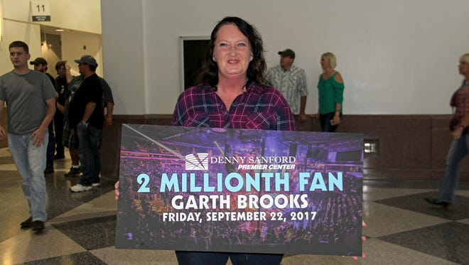 Brandy Reimer was the two-millionth fan to attend an event at the Premier Center.