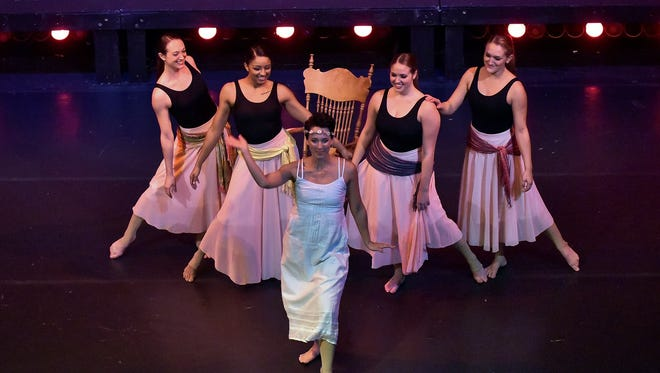Members of Vortex Dance Company perform a piece from 'I'm in Here' in 2016.