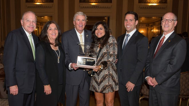 Peter Morrow was awarded the Marvin S. Gilman Bowl Wednesday at a luncheon.