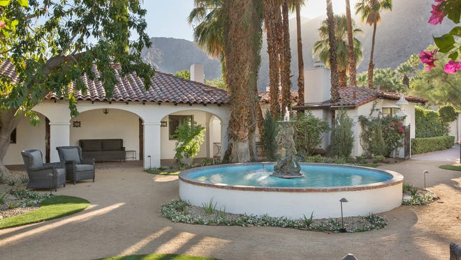 The Ingleside Inn and Melvyn's Restaurant in Palm Springs after renovations.