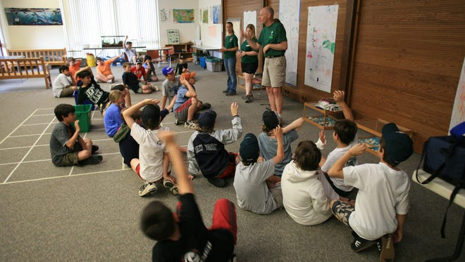 """River Rats"" learn about science and nature at a recent program at the Environmental Education Center, 190 Lord Stirling Road, Basking Ridge."