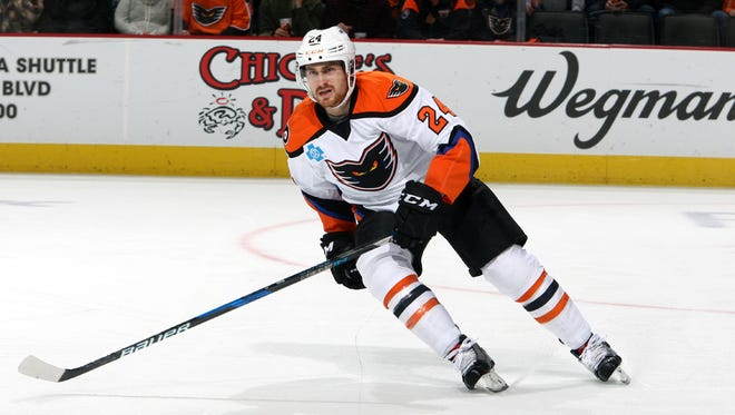 Matt Read has two goals in his first eight games with the Lehigh Valley Phantoms.