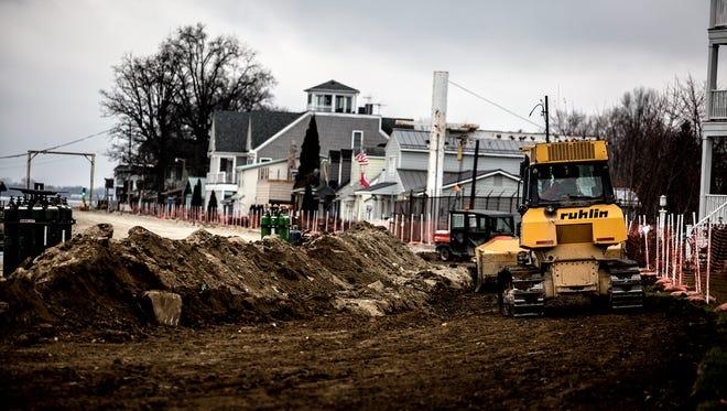 Construction continues along Buckeye Lake's North Shore.