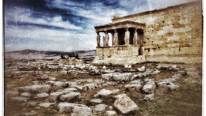 """""""The Erectheon on the Acropolis"""" is a photography by Mary Ann Glass on view in the exhibit """"Timeless Greece"""" at RiverWinds Gallery in Beacon."""