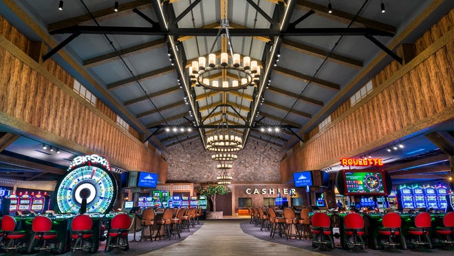 A photo of the new interior entrance of the Point Place Casino in Bridgeport, Madison County, which opens March 1, 2018.