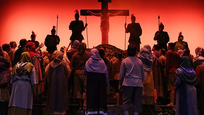 The Northeast Wisconsin Passion Play is an original musical drama presented by Xavier Fine Arts. This year marks the play's 10th anniversary.