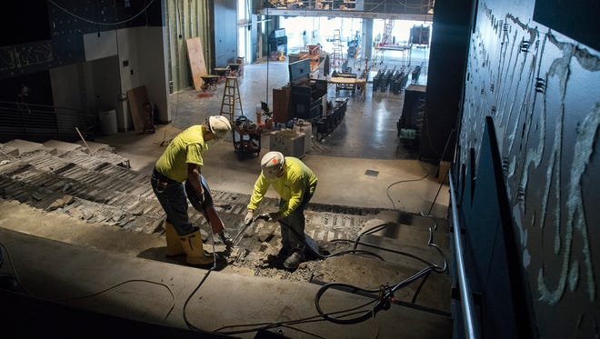 """Construction is taking place on the new """"Power On"""" exhibit at Discovery World."""