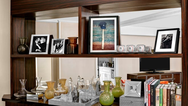 The Centerfield Suite at the Lexington New York has baseball memorabilia and photos of Joe DiMaggio and Marilyn Monroe, who lived there.