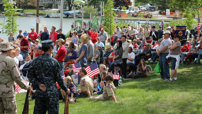 Oconomowoc commemorates Memorial Day at the Rhodee Memorial Band Shell each year.