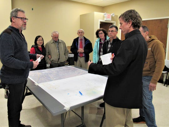 North Watt Road corridor residents met with town officials in an informal meeting. Sedgefield HOA president David Passmore, Inja Greene, Larry Huston, Orchid Grove HOA president Jon Greene, Beth Love, John Roberts and Steve Gille discussed the need for a sidewalk along the east side of the road with CDD Mark Shipley.