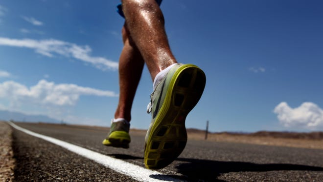 Marathon runner in training.