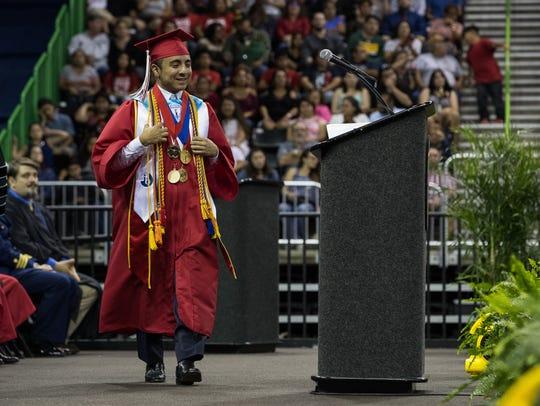 Ray High Schools 2018 valedictorian Juan De Le Garza