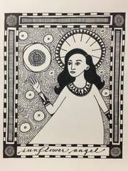 """Sunflower Angel"" is one of over 300 original art works in the Mystery Art Fest starting at 9 a.m. today at the NorthLight Gallery in the Kemp Center for the Arts."