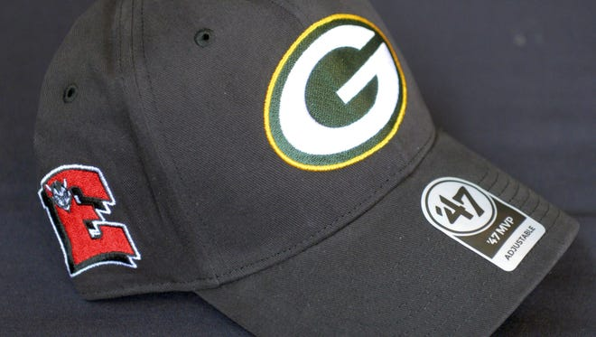The Green Bay Packers, Bellin Health and Green Bay Area Public Schools are selling hats with Packers, Bellin and high school logos to raise money for athletic programs. Jan. 31, 2018.