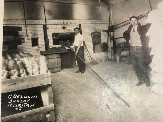 Celebrating its 100th anniversary this year, DeLucia's Brick Oven Pizza in Raritan was originally launched as an Italian bread shop in 1917 by current owner Christian DeLucia's great-grandfather Constantino, shown in this 1930's picture.