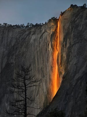 Firefall at Yosemite National Park in February, 2016.