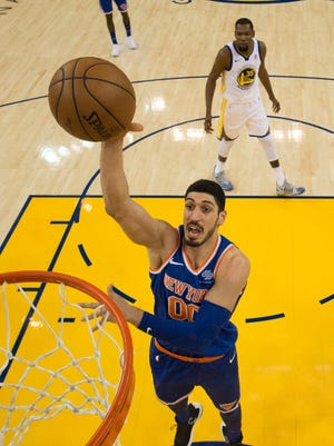 Enes Kanter has a rooting interest in Xavier basketball. The Knicks center's younger brother, Kerem, plays for the Muskateers.