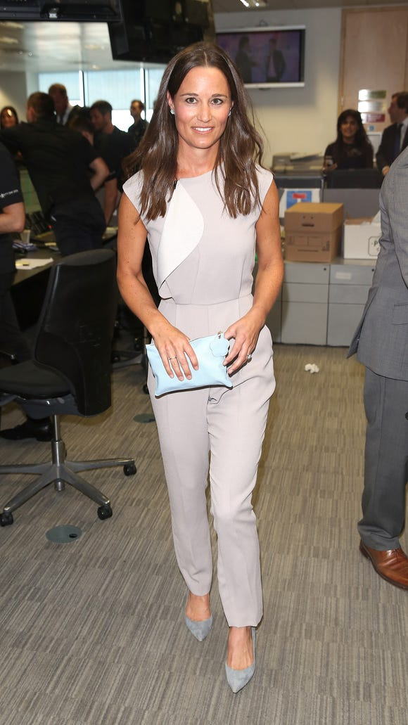 Pippa Middleton attends the BGC Annual Global Charity Day at Canary Wharf in London.