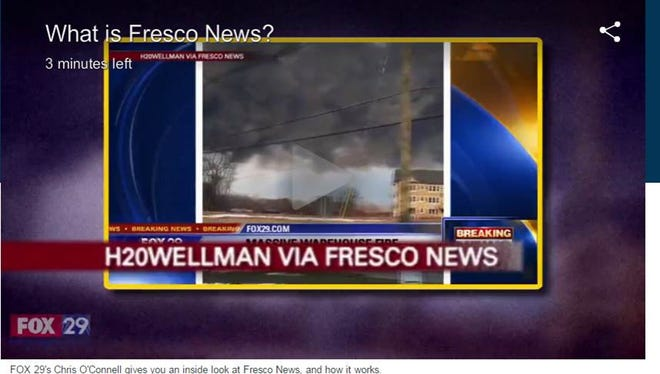 A viewer gets credit for a Fresco News submission.