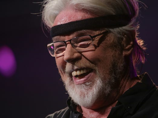 Bob Seger performs for the crowd during his concert