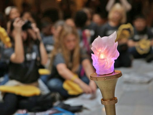 A children's torch was displayed on Friday, Dec. 11,