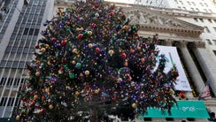 The 93rd annual New York Stock Exchange Christmas Tree
