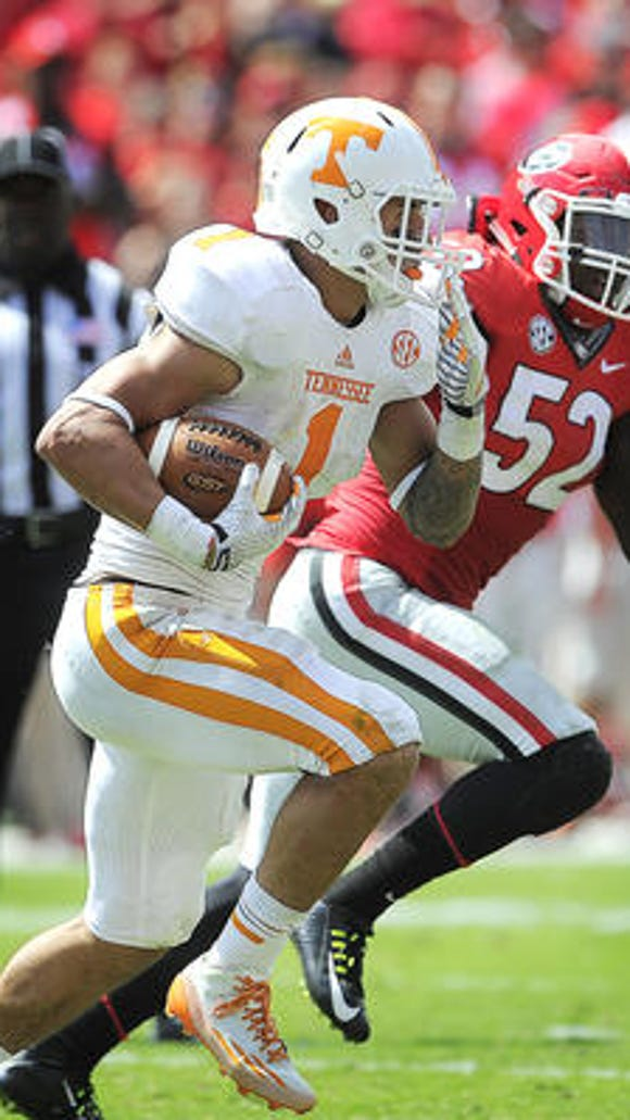 Tennessee running back Jalen Hurd was removed from