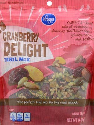 This trail mix has been recalled because of possible listeria contamination.