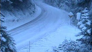 Highway 20 at Tombstone between Sweet Home and Santiam Pass.