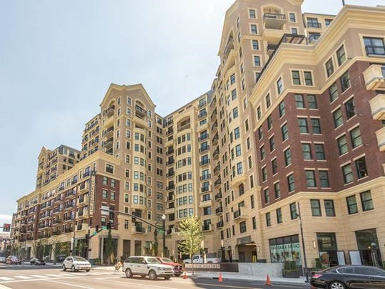 The average monthly rent at new 350-unit, two-month-old,