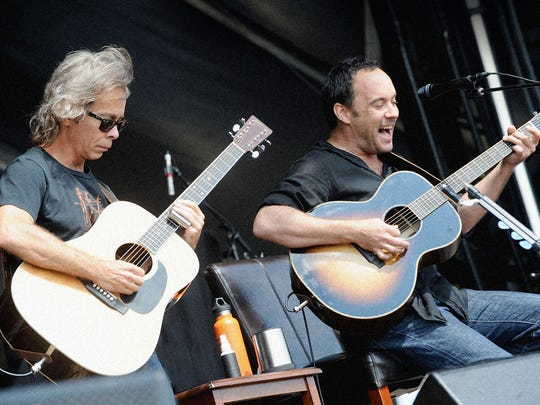 Tim Reynolds, left, and Dave Matthews, right