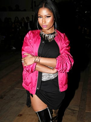 Singer Nicki Minaj arrives to attend the H&M Fall-Winter 2017-2018 ready to wear fashion collection presented in Paris. On Friday, Minaj responded to Remy Ma's harsh diss track in a new song featuring her label mates Drake and Lil Wayne.