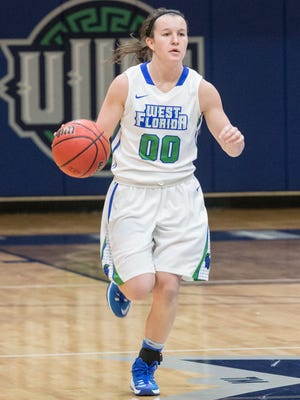 UWF senior point guard Alex Coyne has led the Argos into the national final 16 and chance to further historical season, after Saturday's South Region semifinal win in St. Petersburg