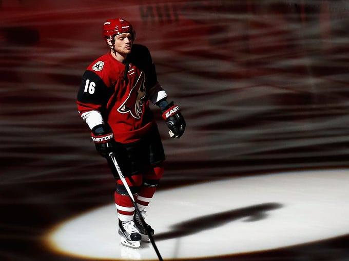 Max Domi is introduced before the home-opener against
