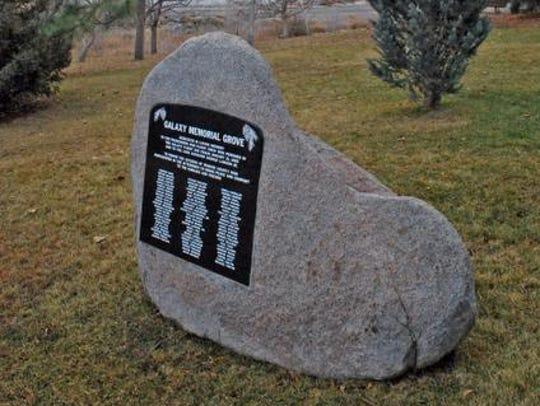 A plaque set in stone at Rancho San Rafael Regional