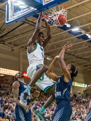 One of Demetris Morant's 96 dunks this past season.